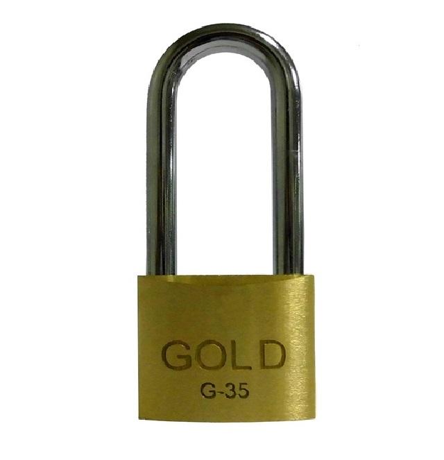 CADEADO LATÃO HASTE LONGA(50MM)35MM  GOLD