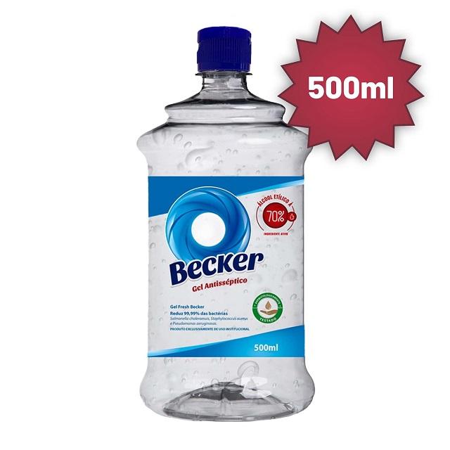 ÁLCOOL GEL 500ML ANTISSÉPTICO 70% PA0003109 BECKER