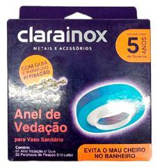 ANEL DE VEDAÇÃO PARA BACIA SANITÁRIA COM GUIA E FIXAÇÃO 53441 CLARAINOX