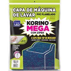 CAPA PARA MÁQUINA DE LAVAR EM PVC FLANELADA KORINO MEGA LISA COM ZÍPER TAM.G 69X66X91CM REF.760/G PLAST LEO