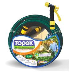 MANGEIRA PVC PARA JARDIM PEÇA COM 15 METROS TOPEX VERDE 9345 PLASTMAN
