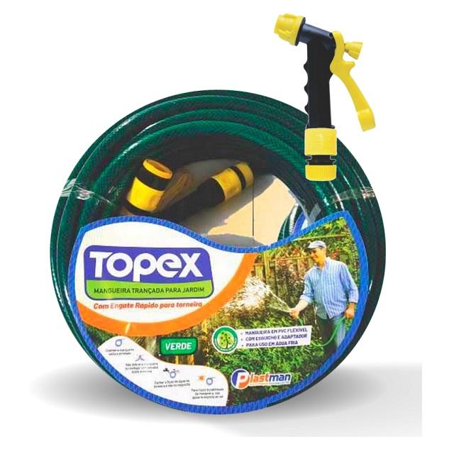 MANGEIRA PVC PARA JARDIM PEÇA COM 20 METROS TOPEX VERDE 9346 PLASTMAN