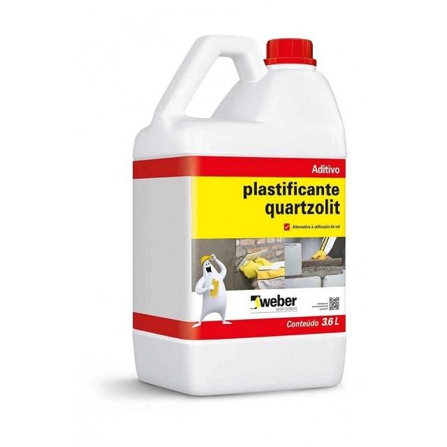 ADITIVO PLASTIFICANTE PARA ARGAMASSA E REBOCO 3,6L QUARTZOLIT