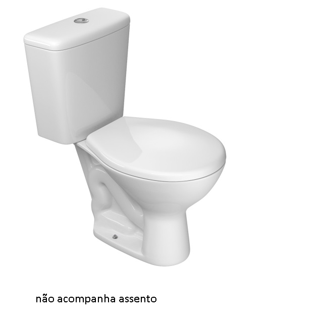 BACIA COM CAIXA ACOPLADA IZY ACIONAMENTO DUPLO BRANCA DECA
