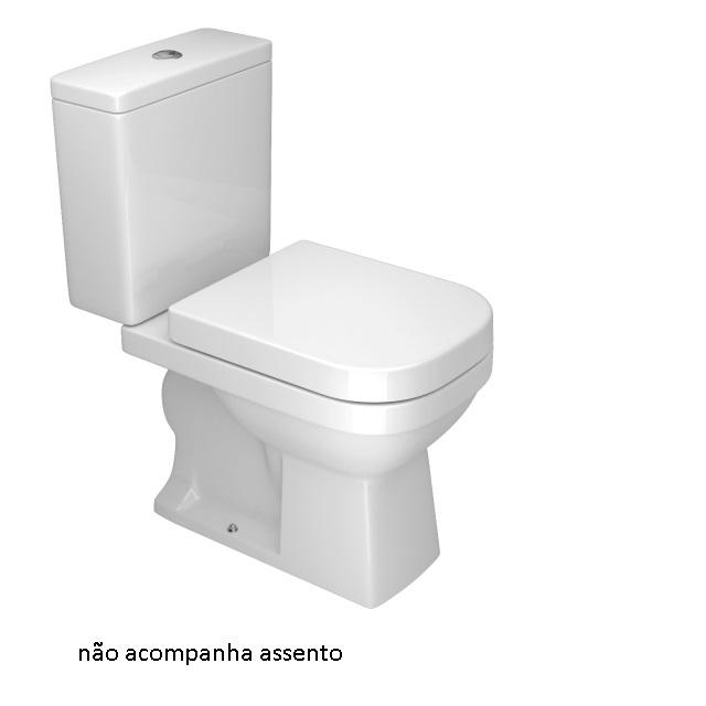 BACIA COM CAIXA ACOPLADA QUADRA ACIONAMENTO DUPLO DECA