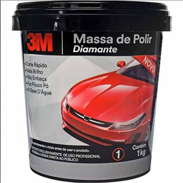 MASSA PARA POLIR PINTURA AUTOMOTIVA DIAMANTE 1KG 3M