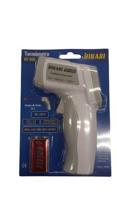 TERMÔMETRO INFRAVERMELHO HT-550 (COM 1 BATERIA 9V) 21N255 HIKARI